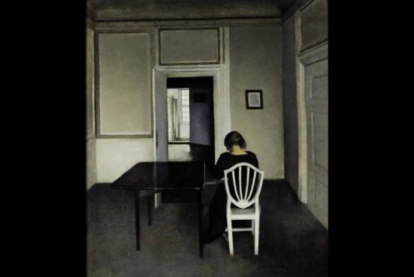 Interior-with-Ida-in-a-White-Chair-by-Vilhelm-Hammershøi
