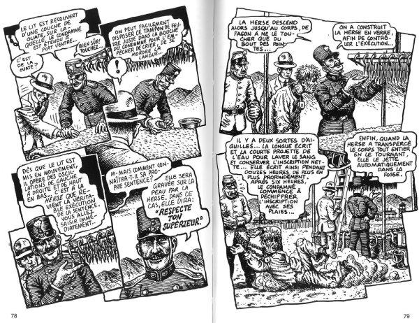 Trecho de Na Colônica Penal de Kafka, por R. Crumb